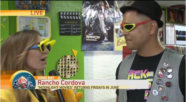 Screen capture of Good Day Sacramento coverage at Back to the 80s Store.