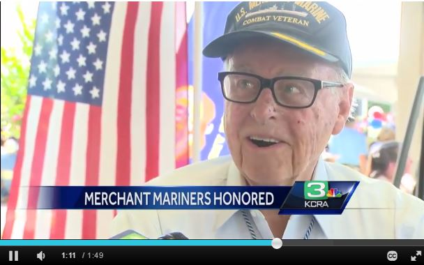 Screen capture of KCRA 3 coverage from 2016 Memorial Day event.