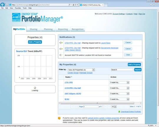Screenshot of the Portfolio Mangaer User Interface