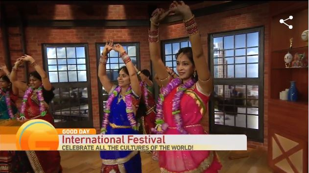 Screen capture of Good Day Sacramento coverage of 2016 International Festival.