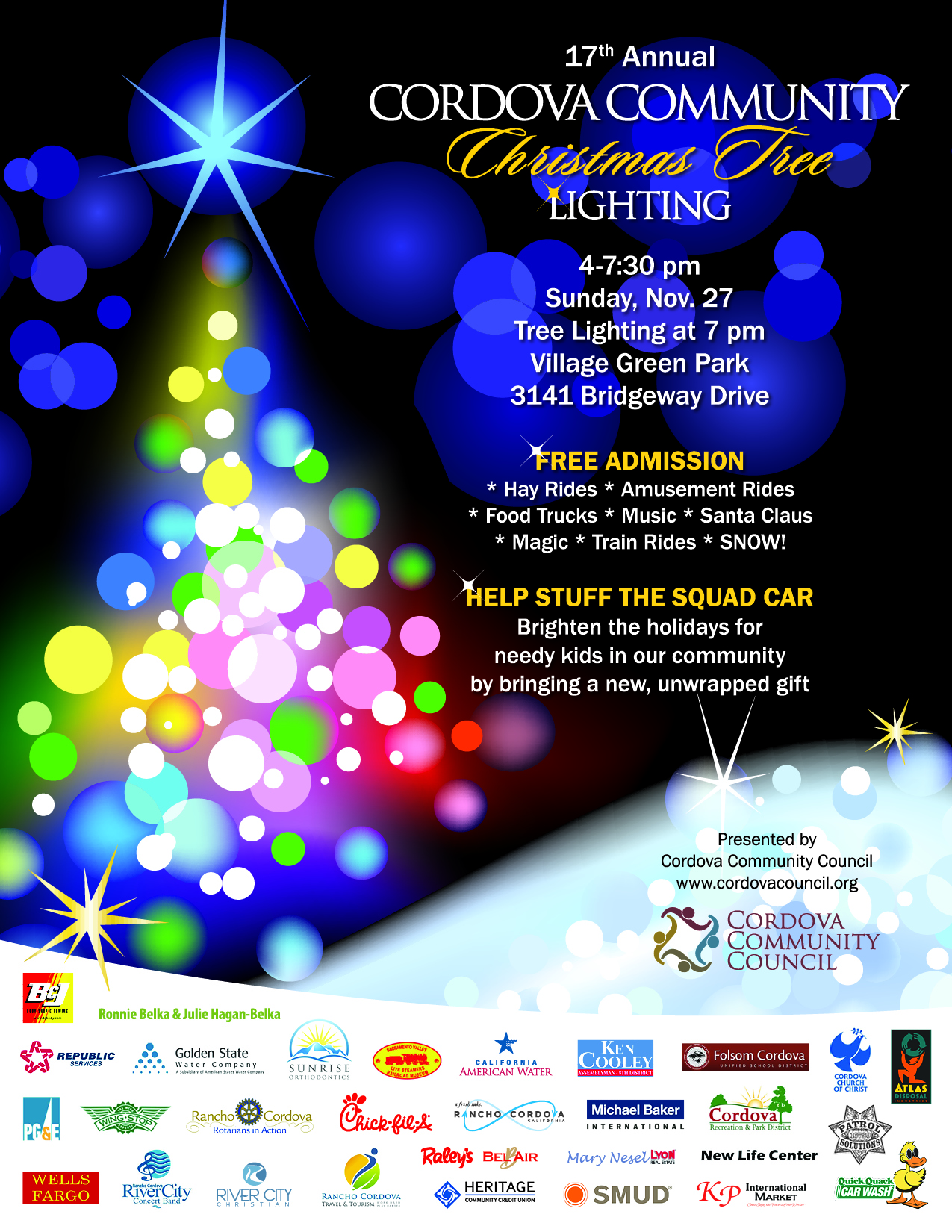 Rancho Cordova Christmas Tree Lighting 2020 17th Annual Cordova Community Christmas Tree Lighting | Events