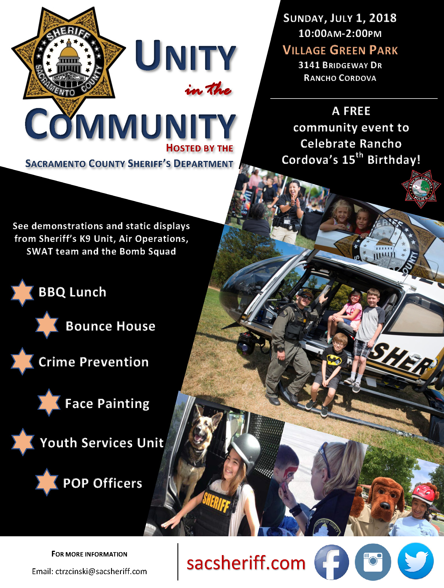 Rancho Cordova Unity in the Community | Calendar List View