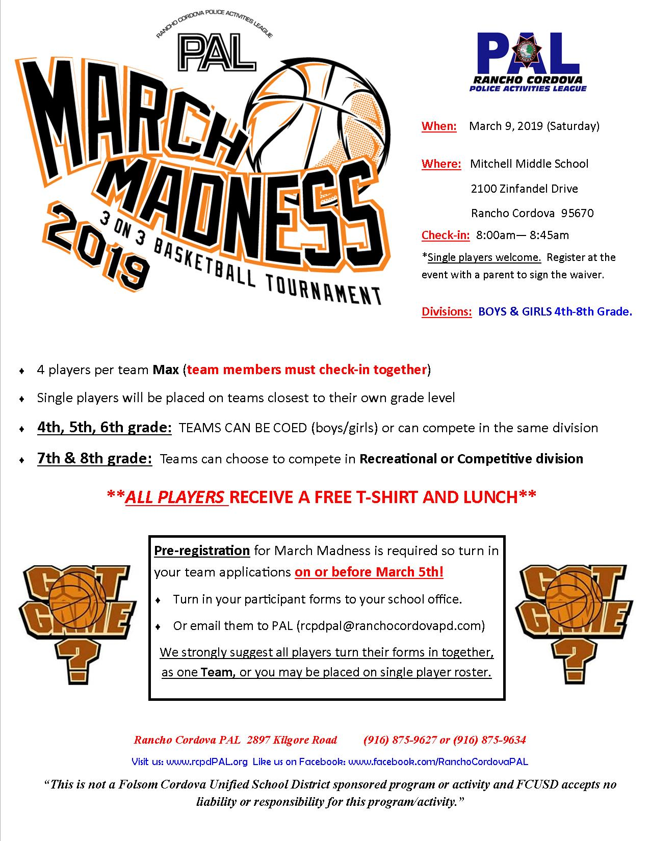 March Madness Flyer 2019 #1
