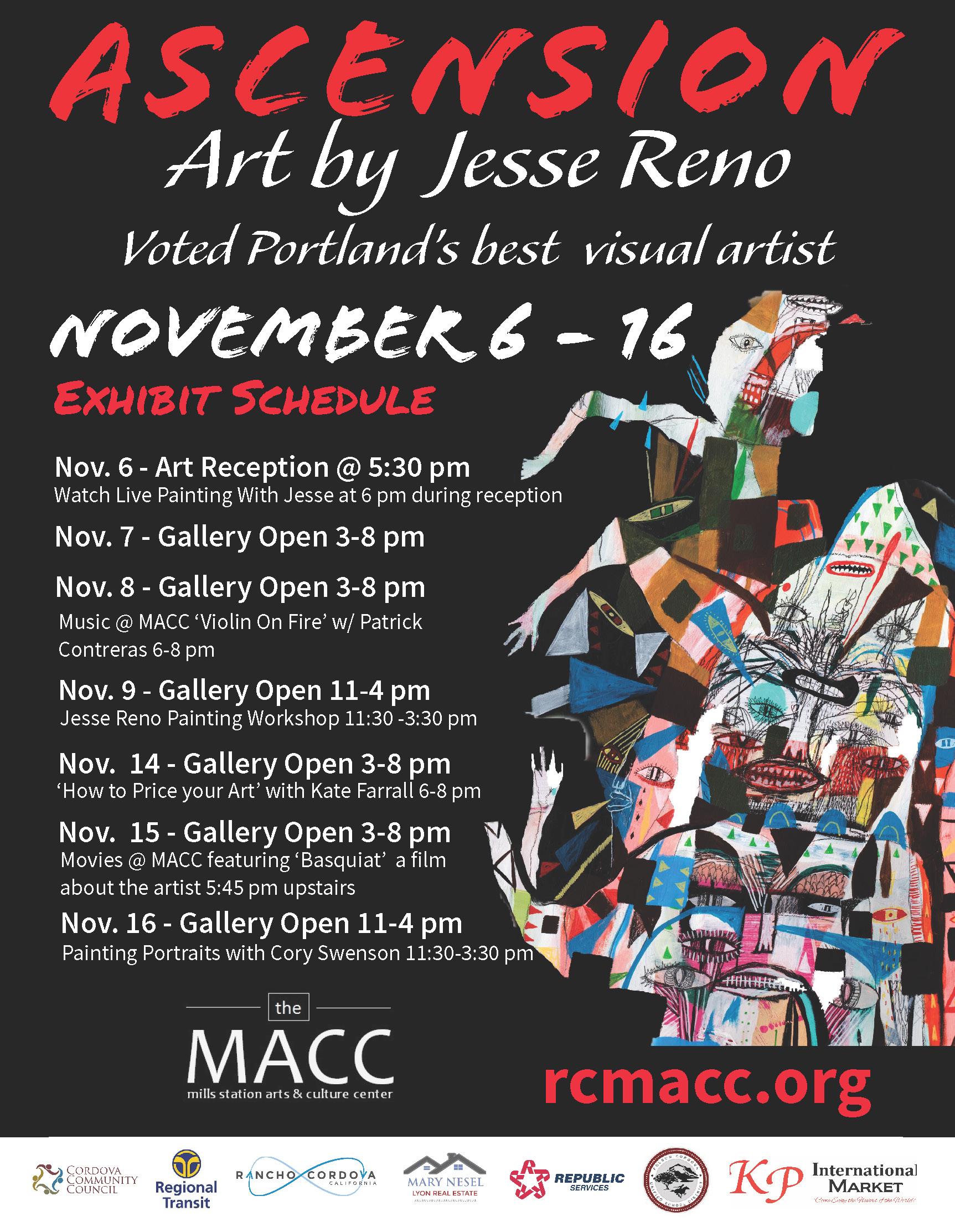 Reno Events Calendar 2022.Ascension Art By Jesse Reno In Rancho Cordova Events Calendar City Of Rancho Cordova
