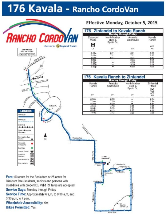 Anatolia Cordovan Route Map and Schedule