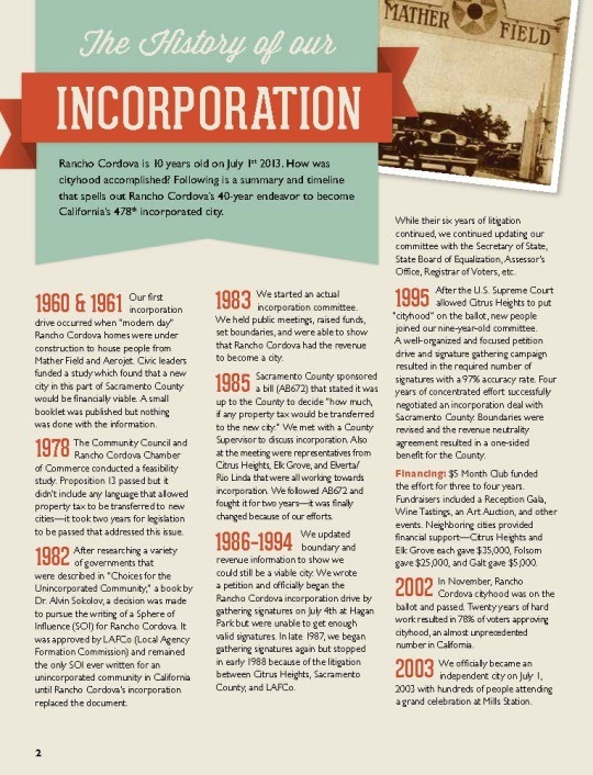 History of Incorporation