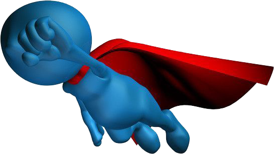 Icon of a figure with a cape on flying like Superman
