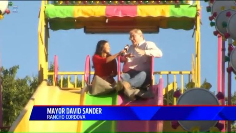 Screen capture of Fox 40 coverage of Rancho Cordova's 4th of July.