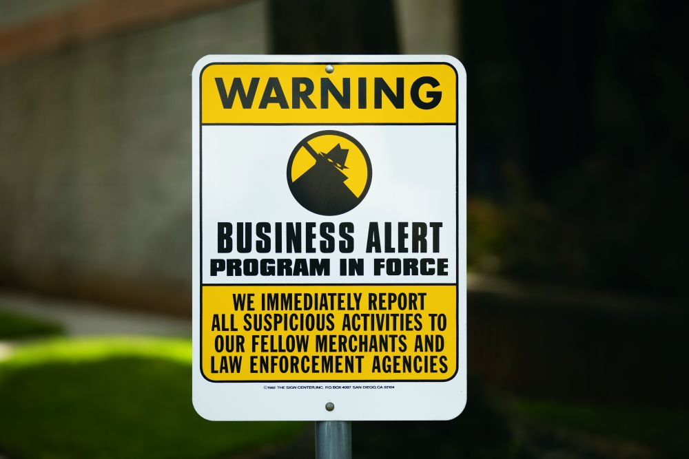 Business Alert Sign Small